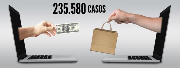 imagem representando vendedor varejista com o número 235.580 casos