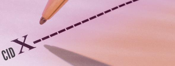 imagem de uma caneta escrevendo um CID