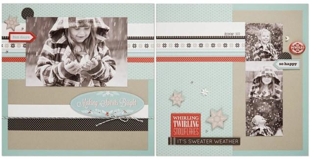 Snowhaven scrapbook layout