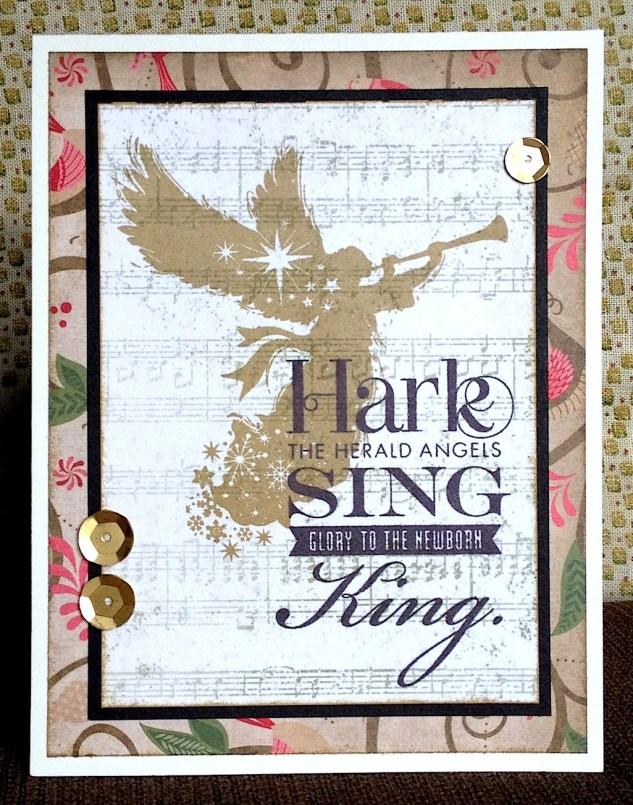 Card using Sing Glory stamp set