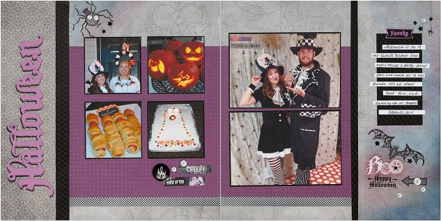 Halloween layout CTMH