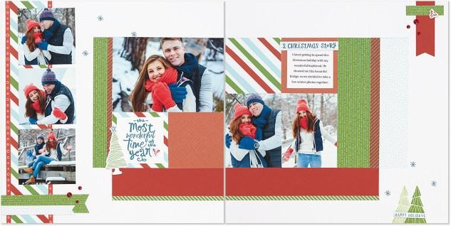 A free Christmas scrapbook pattern! #ctmh #closetomyheart #christmasscrapbook #scrapbookpattern #pattern #scrapbooking