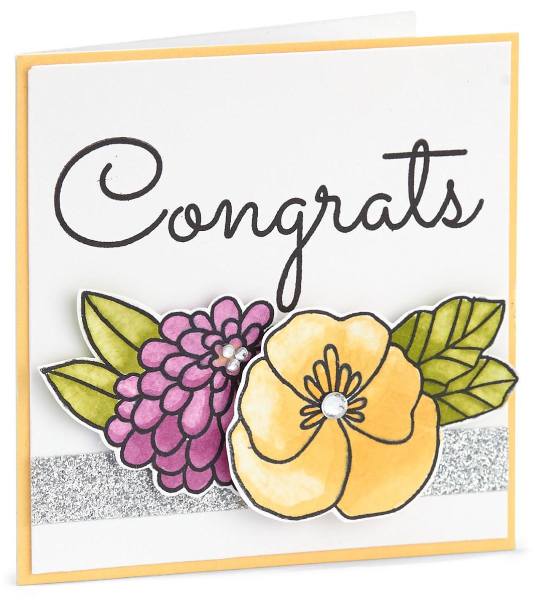 Marker Shading Technique #ctmh #closetomyheart #cardmaking #markers #markershading #markertechnique #congrats