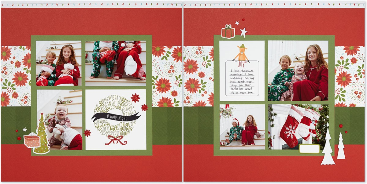 Christmas Album Inspiration #ctmh #closetomyheart #scrapbooking #Christmas #album #holiday #family #merry #ornament #reindeer #jolly #tree #wreath #holynight #presents #gifts #bearychristmas