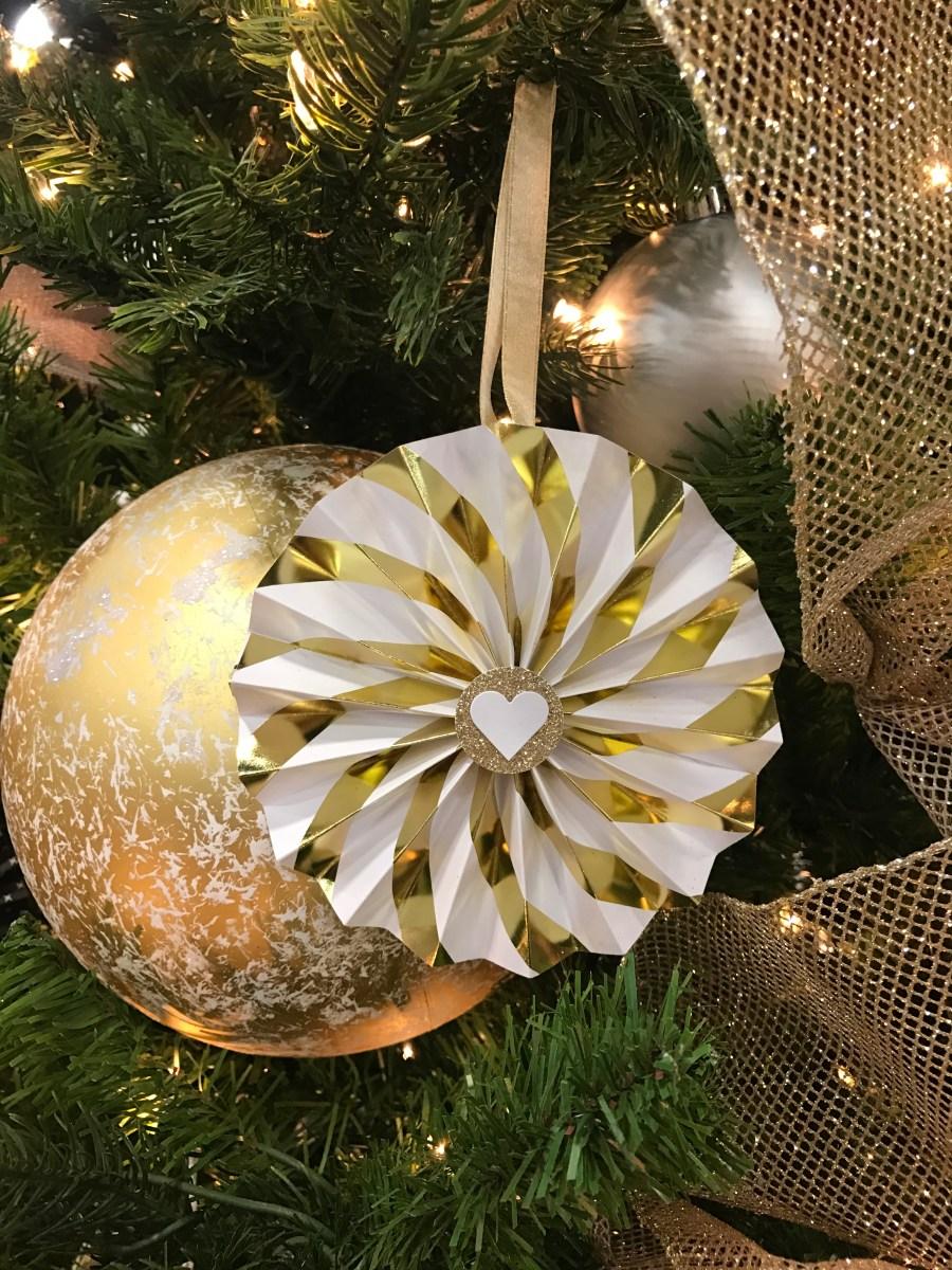 art from the heart #ctmh #closetomyheart #festivaloftrees #Chrismas #tree #paper #ornaments