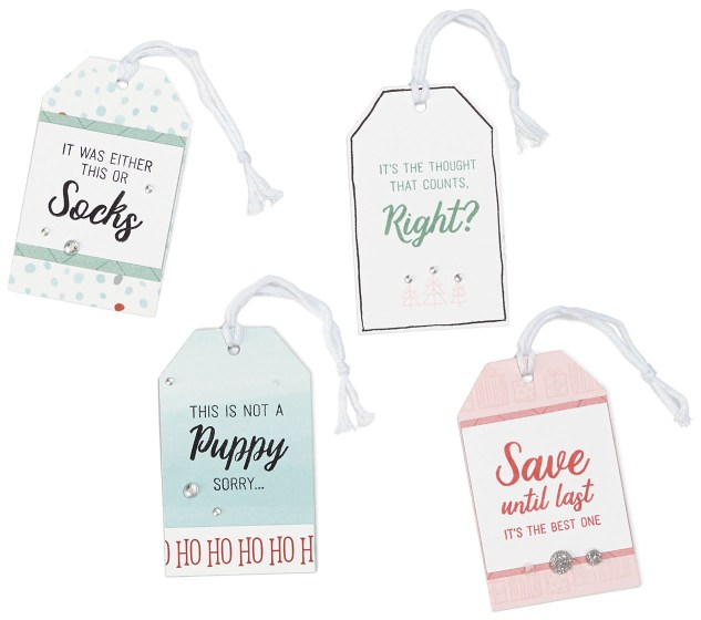 Pastel Christmas Trend #ctmh #closetomyheart #pastel #Christmas #trend #bashful #silver #glitter #pink #lightblue #juniper #December #gift #tags #diy