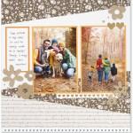 Through the Year #ctmh #closetomyheart #throughtheyear #calendar #kit #scrapbooking #scrapbook #memorykeeping #keepsake #gift #diy #family #Chrismas #present #photos #gold #glitter #diecut #gems #flowers #hearts