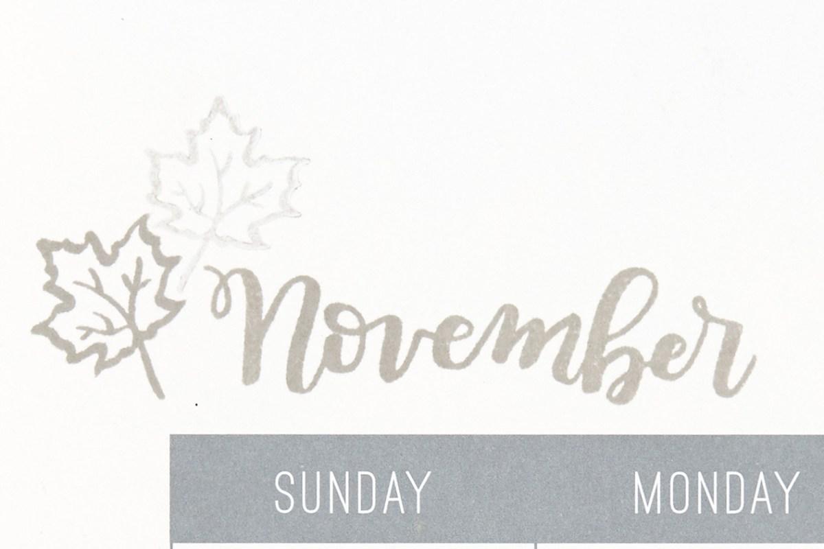 Through the Year #ctmh #closetomyheart #throughtheyear #stamp #November #stampofthemonth #sotm #calendar #kit #November #fall #autumn #leaf #leafs #leaves