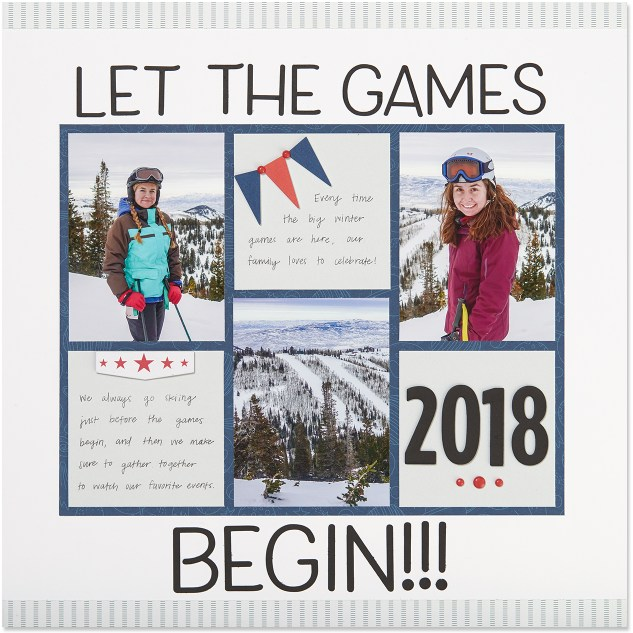 Scrapping Watch Parties #ctmh #closetomyheart #winter #games #snow #2018 #scrapping #scrapbooking #watch #parties #friends #together #celebrate