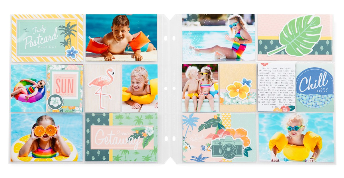 Postcard Perfect Pocket Scrapbooking #ctmh #closetomyheart #ctmhpostcardperfect #postcardperfect #giveaway #free #cutabove #layout #pocket #scrapbooking #scrapping #pocketscrapbooking #getaway #holiday #vacation #scenic #beach #win #free #ctmhflipflaps #flipflaps