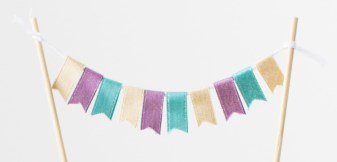 Fun with Ribbon #ctmh #closetomyheart #cthmcreatetherainbow #createtherainbow #ribbon #funwithribbon #craftingwithribbon #ribboncrafts #ribbonbanner #pennantbanner #cakebanner