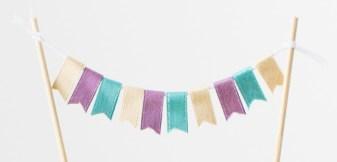 Fun with Ribbon #ctmh #closetomyheart #cthmcreatetherainbow #createtherainbow #ribbon #funwithribbon #craftingwithribbon #ribboncrafts #ribbonbanner #pennantbanner #cakebanner
