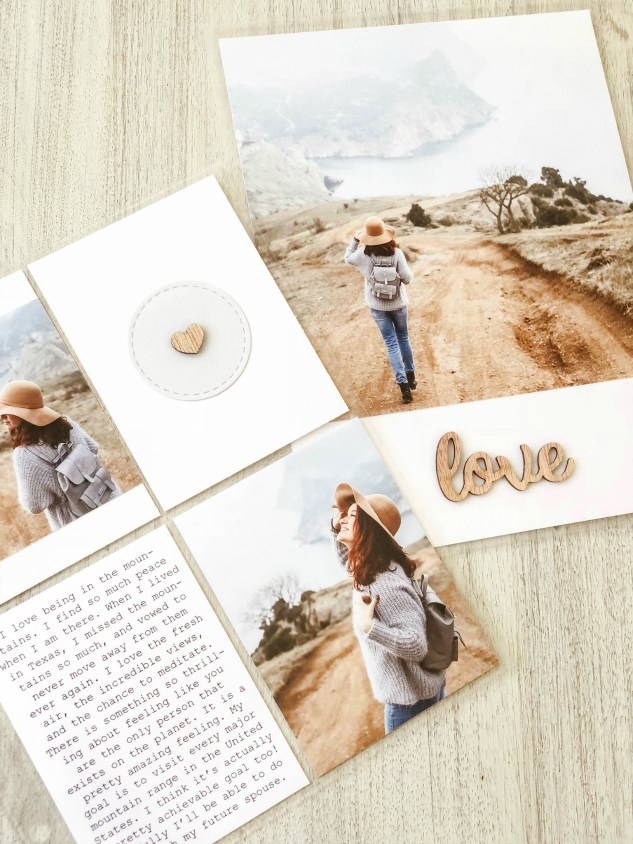 Millenial-style Scrapbooking #ctmh #closetomyheart #millenial #scrapbooking #millenialmemorykeeping #memorykeeping #storytelling #preservingmemories #simplicity #whitespace #minimalism #minimalist #minimalistic #pocketscrapbooking #picturemylife #ctmhpicturemylife #love #outdoors