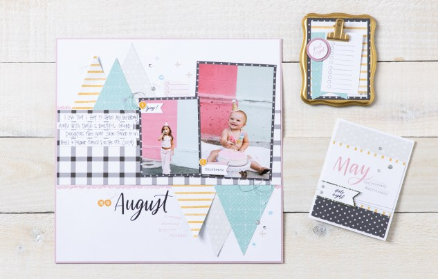 Stamping with Memories in the Making #CTMH #CloseToMyHeart #CTMHMemoriesInTheMaking #MemoriesInTheMaking #NationalStampingMonth #CutAbove® #calendar #scrapbooking