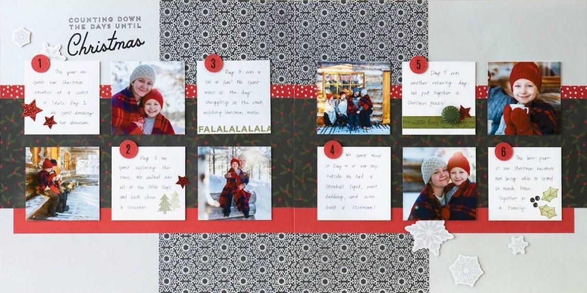 Deluxe Scrapbooking Workshop #CTMH #CloseToMyHeart #WorkshopsYourWay® #scrapbooking #scrapbook #deluxe #elevatedscrapbooking #snow #December #Christmas #holiday #CTMHTistheSeason