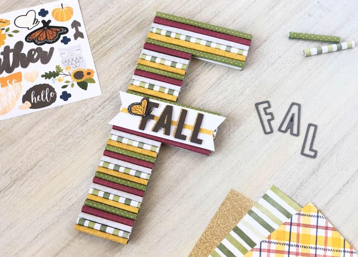 Rolled Paper Monogram #ctmh #closetomyheart #ctmhgratefulheart #fall #autumn #monogram #papercraft #rolledpaper #diy