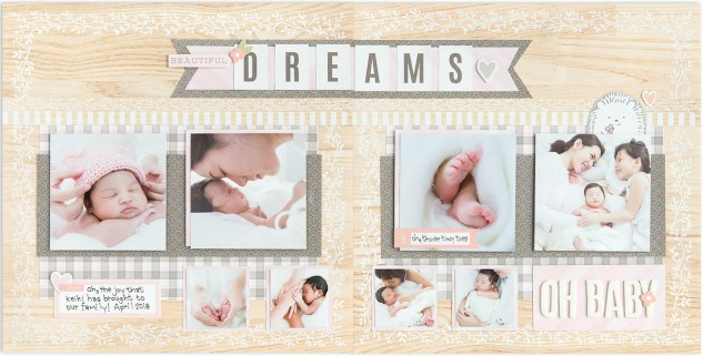 Scrapbook Patterns #ctmh #closetomyheart #scrapbooking #album #pattern #sweetgirl #baby #girl