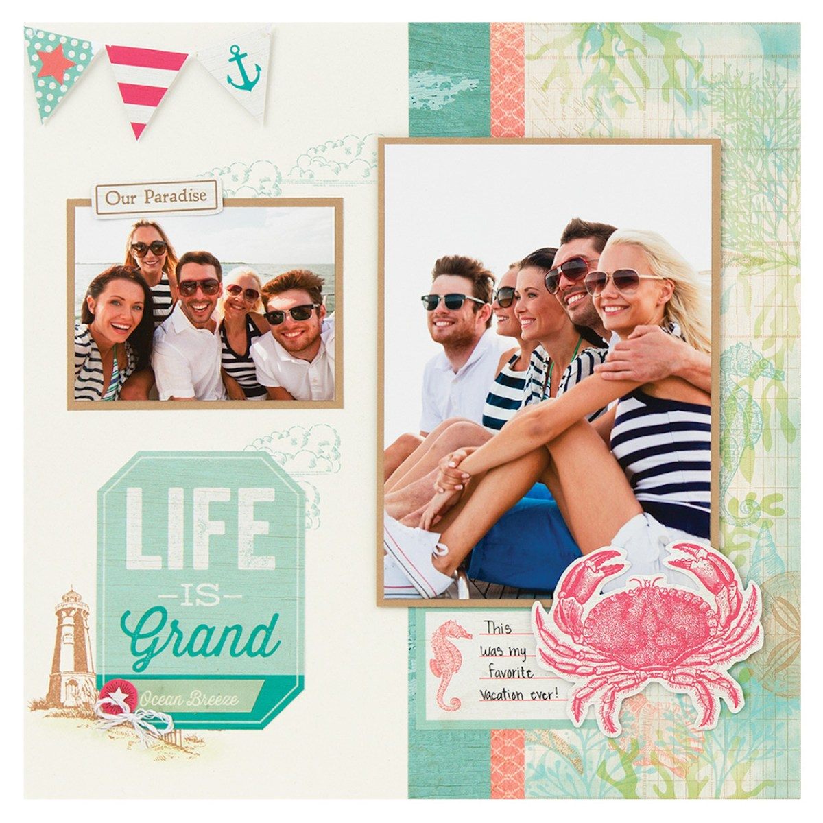 Making Memories by the Seaside #ctmh #closetomyheart #ctmhseaside #bringbackmypack #scrapbooking #cardmaking #patterns #workshopguide #beach #vacation #holiday #summer #lifeisgrand