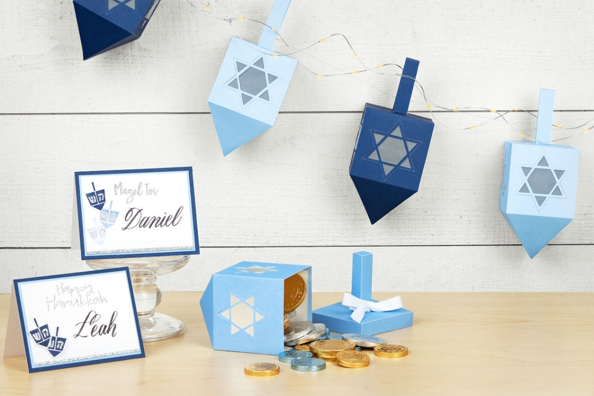 Hanukkah Crafts & Decor #ctmh #closetomyheart #hanukkah #dreidel #papercrafting #cardmaking #diy