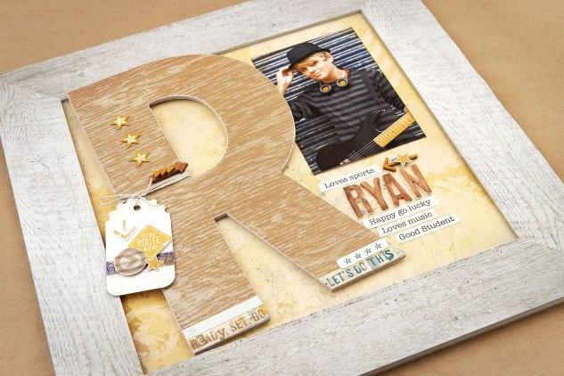 DIY Boy's Room Decor #ctmh #closetomyheart #ctmhurban #frameitup #urbanframes #diydecor #boysroom #skater #skateboarding #rustic #epic #guitar #papercrafting #npm #nationalpapercraftingmonth #chipboard #monogram #visionboard