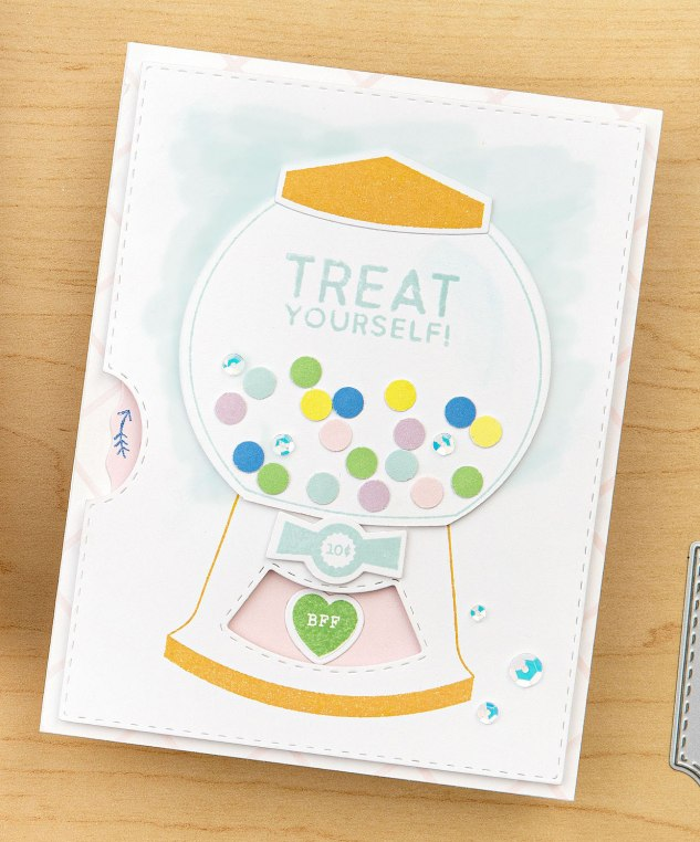 How to Build a Spinning Card #ctmh #closetomyheart #diycards #cardmaking #interactivecard #spinningcard #spinnercard #birthday #treat #rainbow #candymachine
