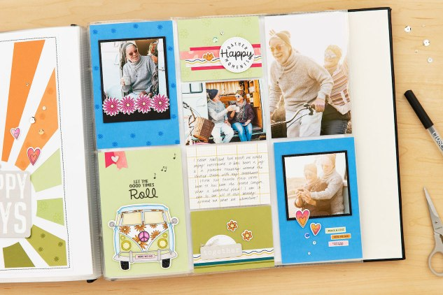 Unique Scrapbook Pages #ctmh #closetomyheart #scrapbooking #memorykeeping #storytelling #happydays #letthegoodtimesroll #pocketscrapbooking #pml #pocketcards #picturemylife #photoalbum #cricut #artbooking