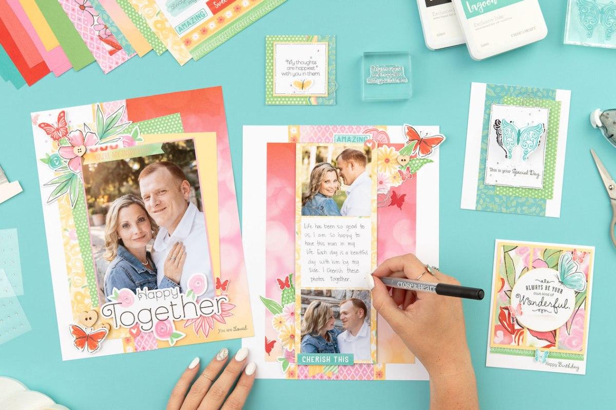Brushed Paper Collection #closetomyheart #ctmh #ctmhbrushed #bringbackmypack #scrapbooking #cardmaking #papercrafting #crop #abuddingfriendship #yourownkindofwonderful #myacrylix