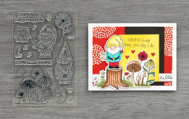 Free Card Pattern #ctmh #closetomyheart #freepattern #cardmaking #cardpattern #happiestplace #free #gnomematter #gnome