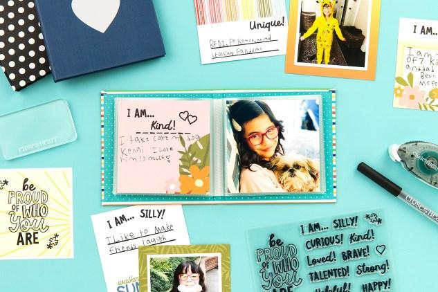 CTMH Kids Crafts #ctmh #closetomyheart #ctmhkidscrafts #borntoshine #scrapbooking #memorykeeping #storytelling #photoalbum #minialbum