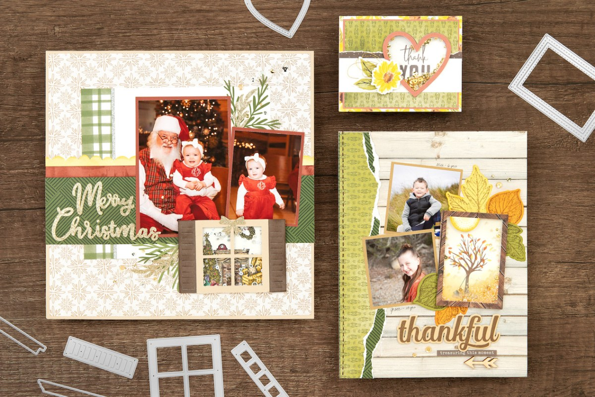Shaker Window Cards & Scrapbook Pages #ctmh #closetomyheart #shakerwindows #cardmaking #scrapbooking