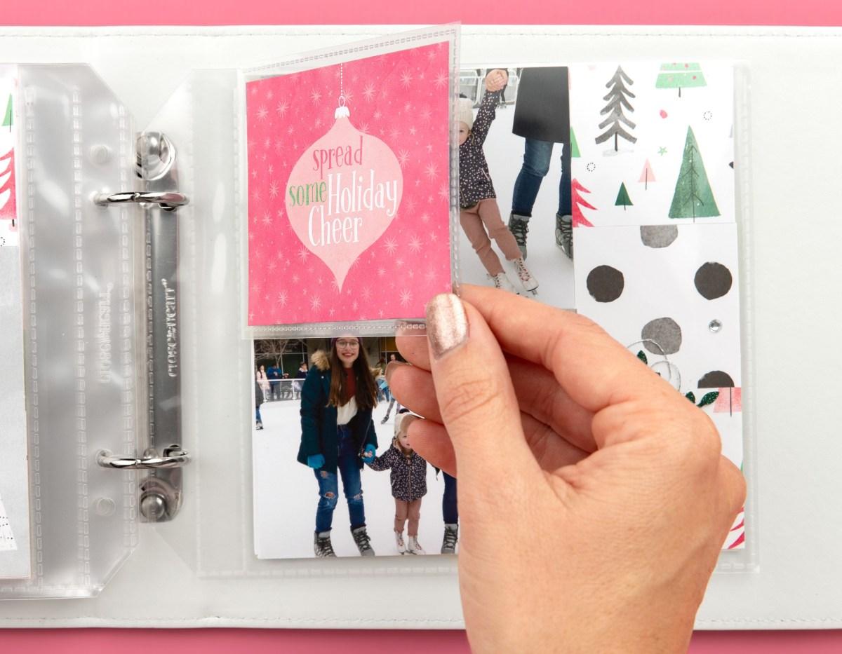 Christmas Mini Album #ctmh #closetomyheart #jinglealltheway #christmas #minialbum #photoalbum #memorykeeping #flipflaps