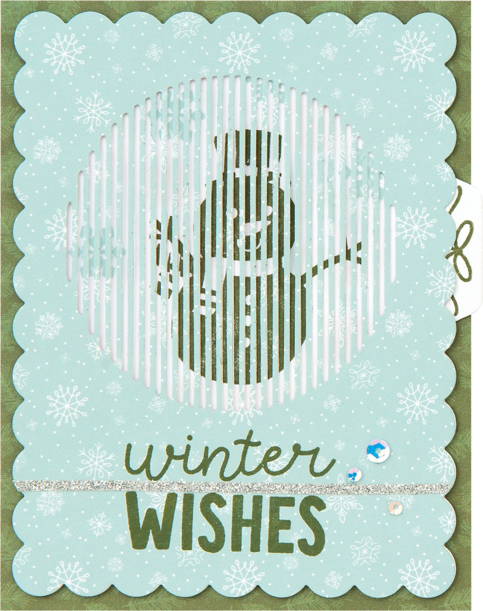 Free Card Pattern #ctmh #closetomyheart #freepattern #cardmaking #diy #ctmhseasonsinmotion #animatedcards #interactivecards #autumnair #holidaycheer #snowman