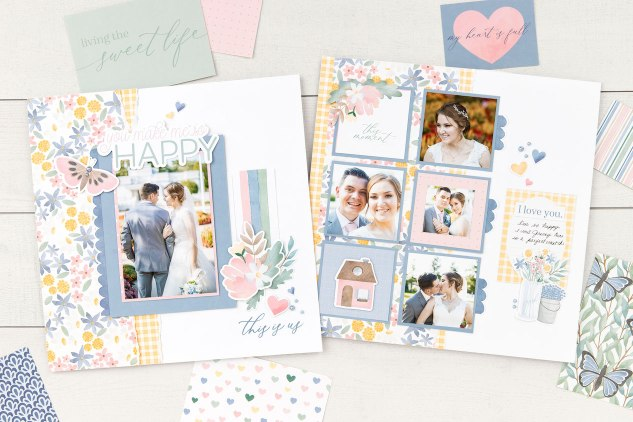 Scrapbooking with Pockets #closetomyheart #ctmh #ctmhpocketcardperfection #scrapbooking #pocketscrapbooking #picturemylife #pocketplus #flipflaps #weddingscrapbook