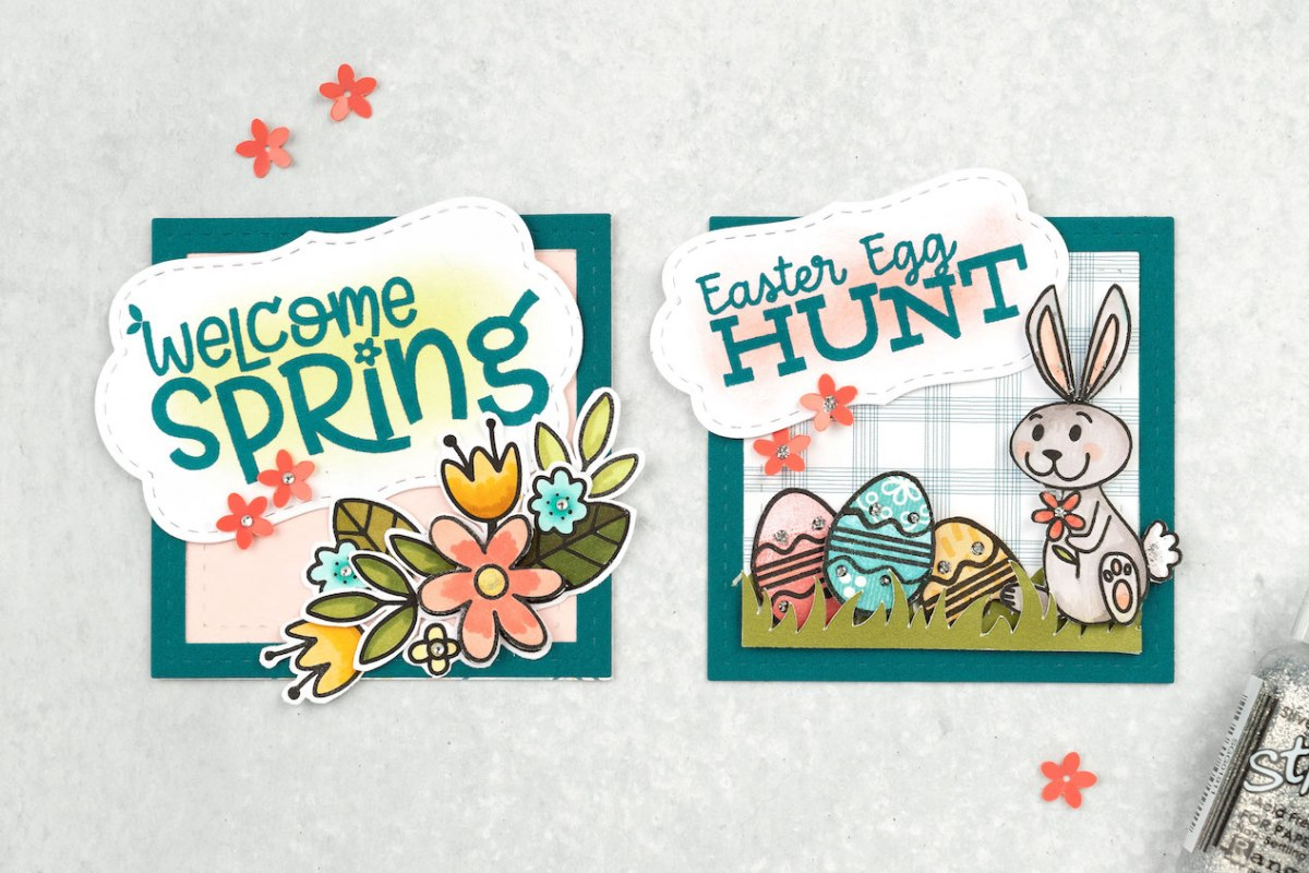 Embellishment Clusters #closetomyheart #ctmh #embellishmentclusters #paperaccents #cardmaking #scrapbooking #papercrafting #Easteregghunt #Easter #welcomespring