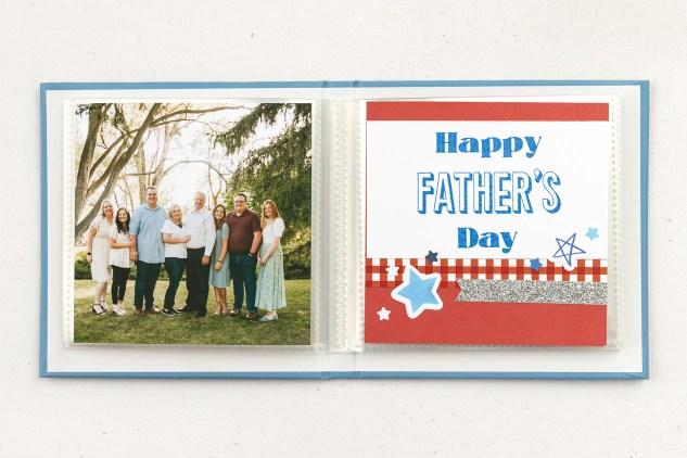 Handmade Father's Day Gifts #closetomyheart #ctmh #ctmhnoordinarydad #noordinarydad #scrapbooking #stamping #diyphotoalbum #minialbum #father'sday