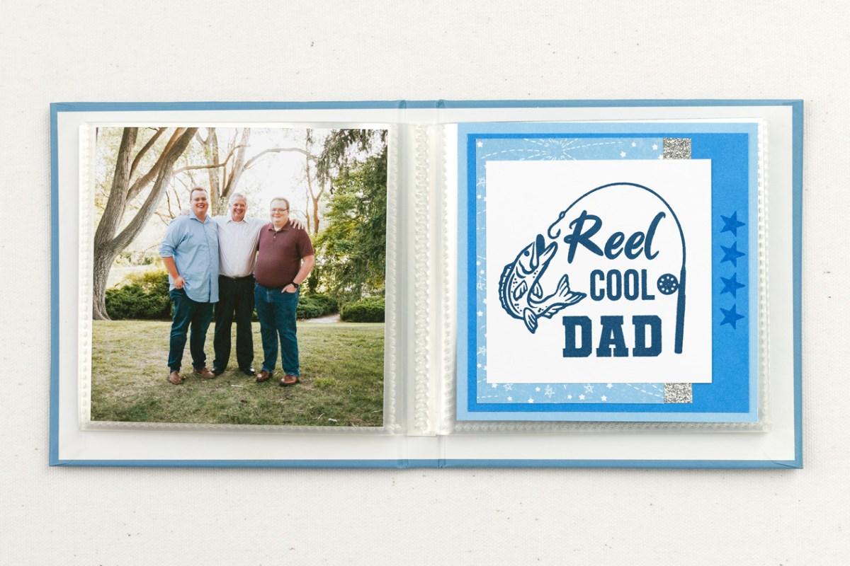 Handmade Father's Day Gifts #closetomyheart #ctmh #ctmhnoordinarydad #noordinarydad #scrapbooking #stamping #diyphotoalbum #minialbum #father'sday #reelcooldad