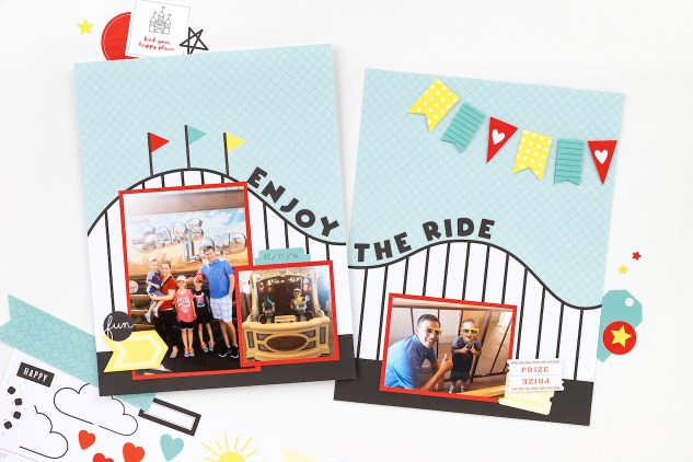 Return to the Happiest Place #closetomyheart #ctmh #ctmhreturntothehappiestplace #cmthhappiestplace #cutabove #happiestplace #amusementpart #themepark #rollercoaster #castle#scrapbooking #cardmaking #papercrafting #partygirl