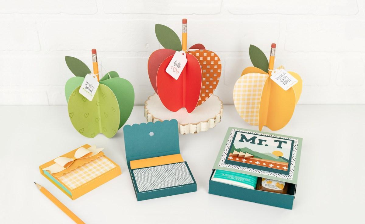 DIY Teacher Gifts #closetomyheart #ctmh #backtoschool #diy #teachergifts #apple #giftbox #stickynotes