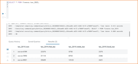 Query on Hive table, which reads data from ADLS-Gen2 directory