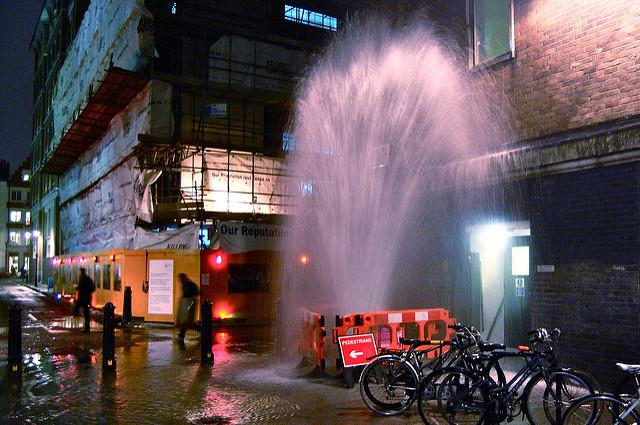Water pipe leak