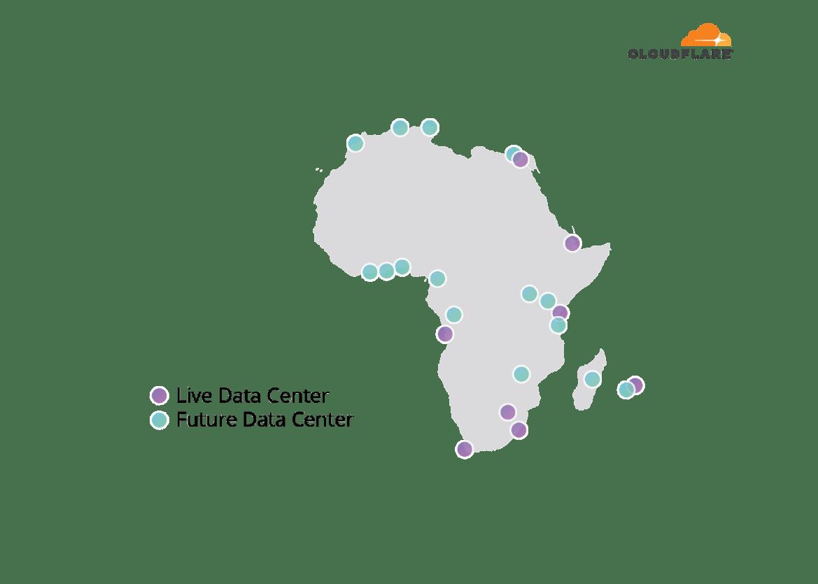 Future Cloudflare Datacenters in Africa