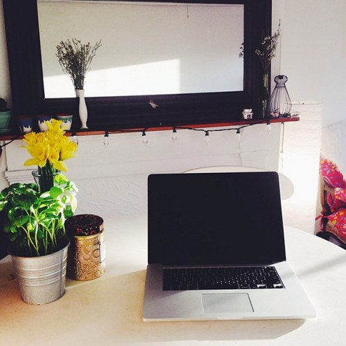 Bryanna's home office in Brooklyn, NY