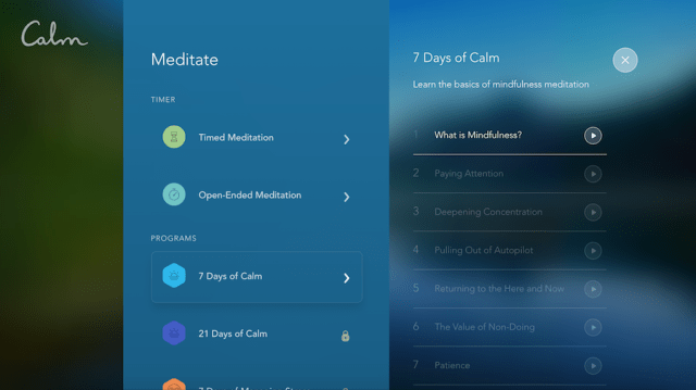 calm meditation apps