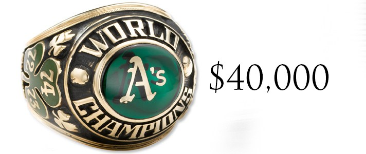 You can own a 1974 As world series ring