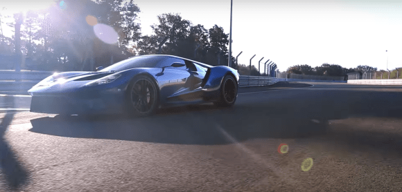 Ford GT on the track