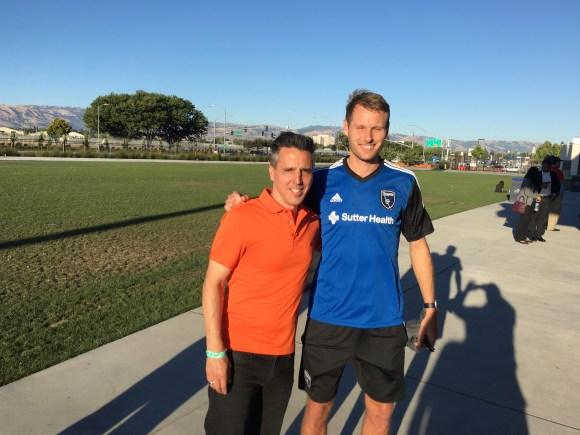 Adam Jahn of the San Jose Earthquakes