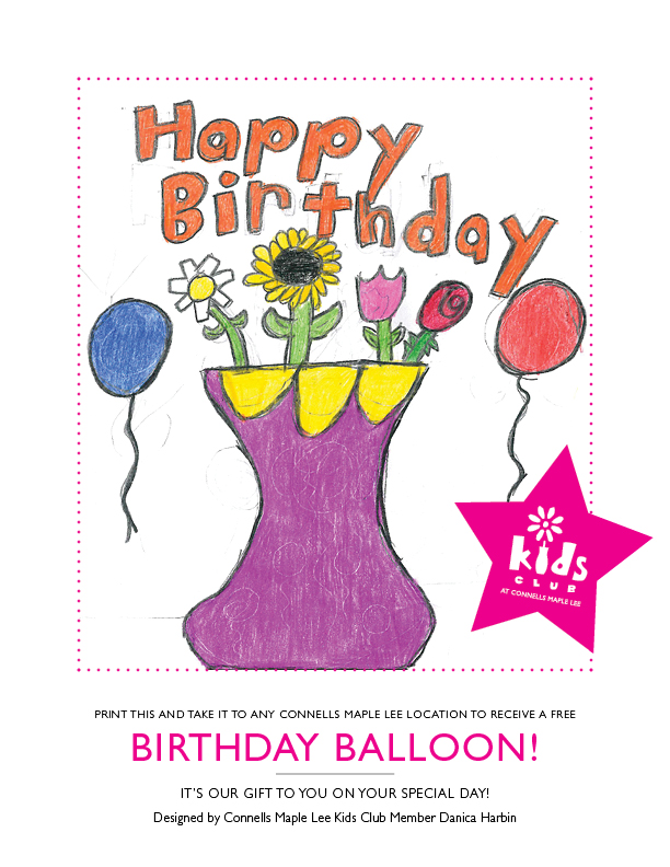 Enter The Kids Club Birthday Card Contest By July 15 For A Chance To Win Free Flower Delivery