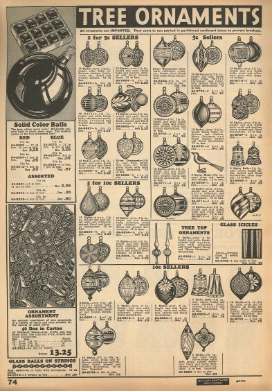 corning glass ornaments 1934