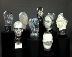 Erwin Eisch, The Eight Heads of Harvey Littleton, 1976 (collection of The Corning Museum of Glass, 76.3.32)
