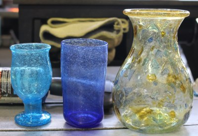 Glass made in Afghanistan by Mr. Nasrullah.